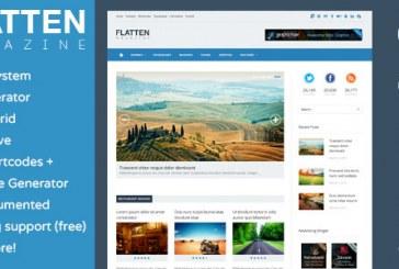 Flatten Magazine – responsive premium šablona