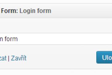 Přihlašovací formulář jako widget do sidebaru
