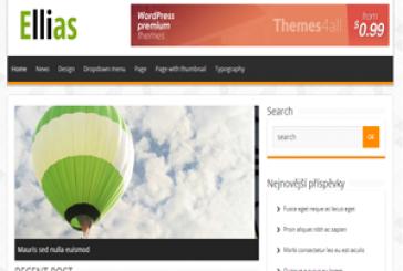 Ellias magazín free WordPress šablona