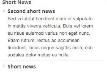My short news plugin