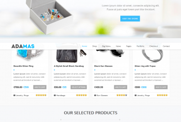 Adamas premium ecommerce WordPress šablona