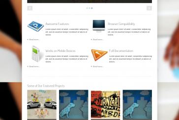 SimpleCorp free portfolio responsivní šablona
