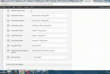 Nastavení All in SEO pack pluginu pro WordPress video návod