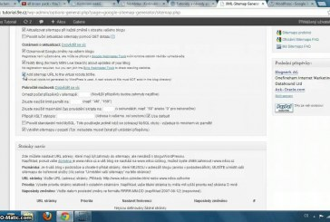 XML sitemap plugin pro WordPress video návod
