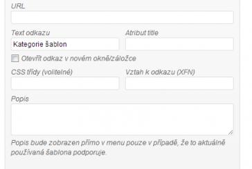 Zobrazení menu description ve WordPress šabloně