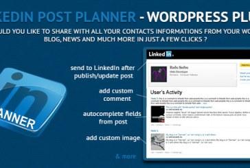 Pluginy pro správu a publikování na Linkedin