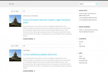 Fizz free responsivní WordPress šablona
