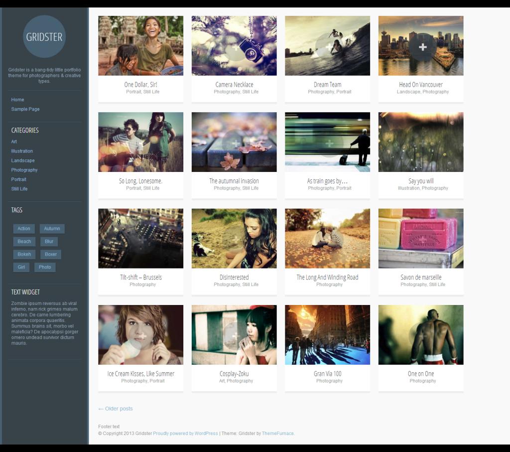 Gridster portfolio theme