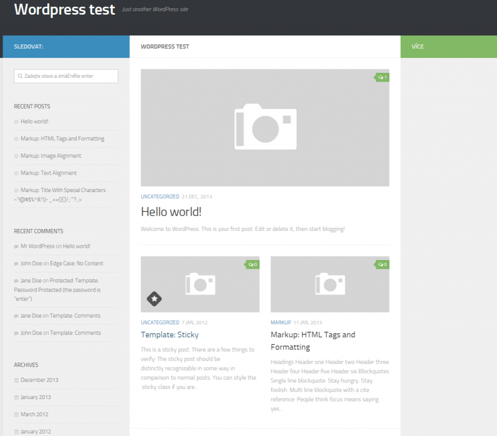 Wordpress test - Just another WordPress site