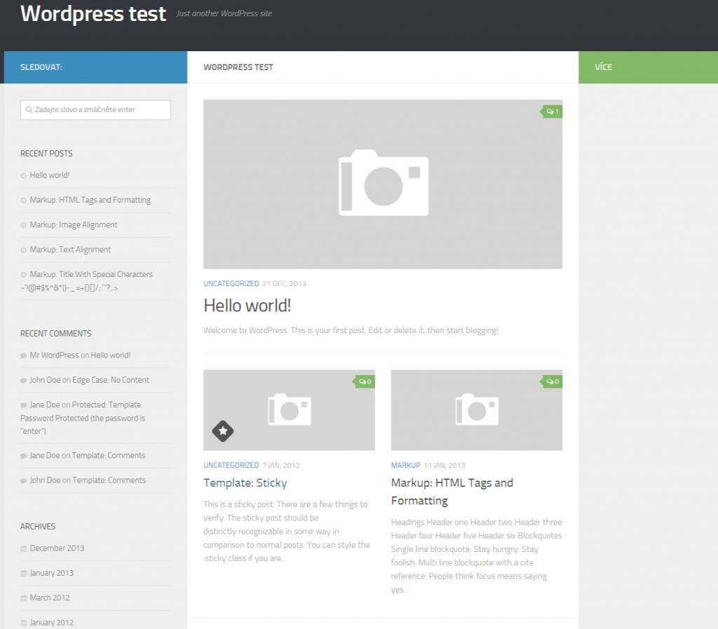 Wordpress test - Just another WordPress site