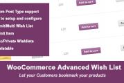 Woocomerce Advanced Wishlist plugin