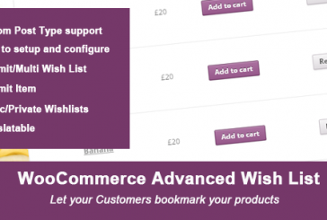 Woocomerce Advanced Wishlist plugin