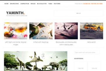 Yaminth Free WordPress šablona