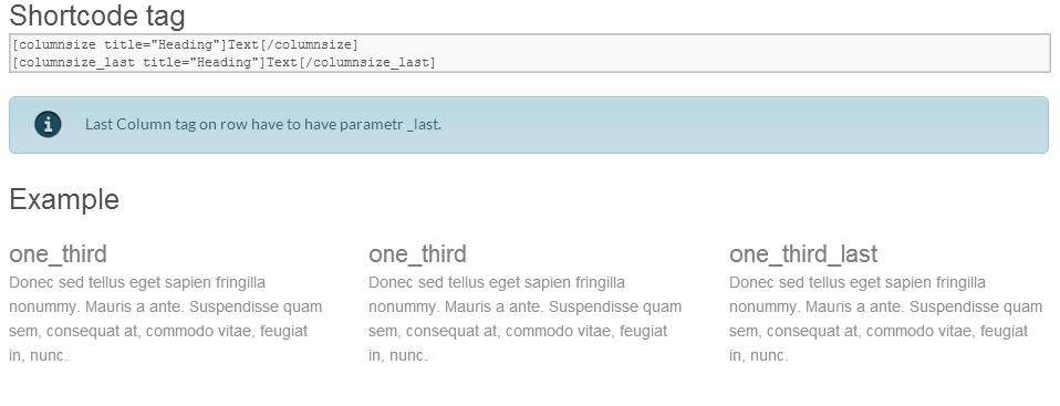 Column Shortcodes Themes4all - WordPress Premium Templates