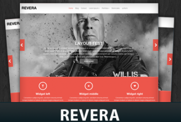 Revera free responsivní WordPress šablona