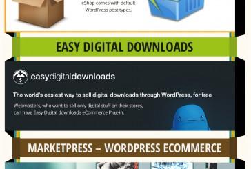 20 WordPress eshop pluginů infografika