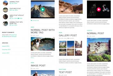 Fullby free responsivní WordPress šablona
