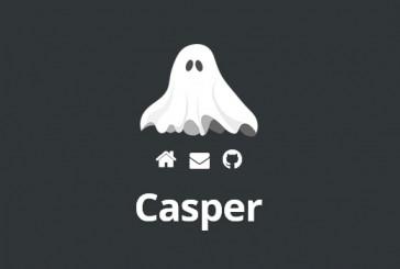 Casper free responsivní WordPress šablona