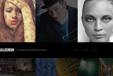 Fullscreen free portfolio WordPress šablona