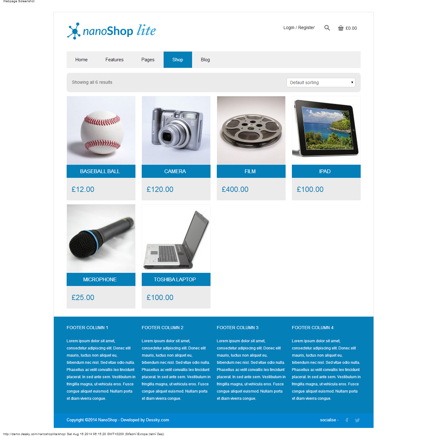 Products NanoShop Lite