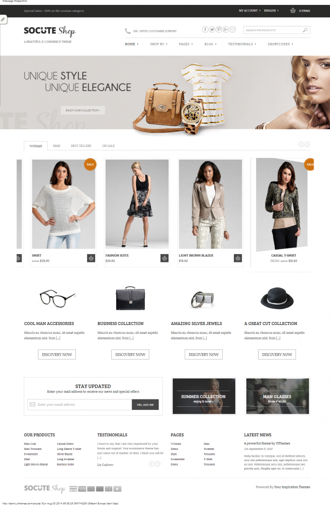 Socute A Beautiful E-Commerce Theme