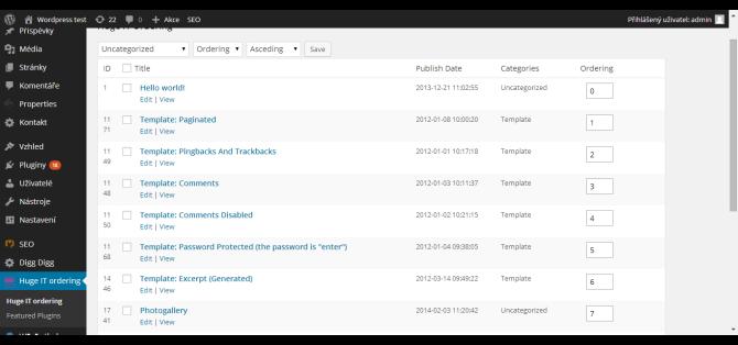 Theme page title ‹ WordPress test – WordPress