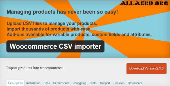 10.2. WooCommerce CSV importer