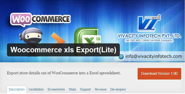 10.5. WooCommerce XLS Export Lite
