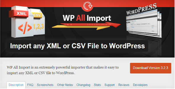 10.7. Import any XML or CSV File to WordPress