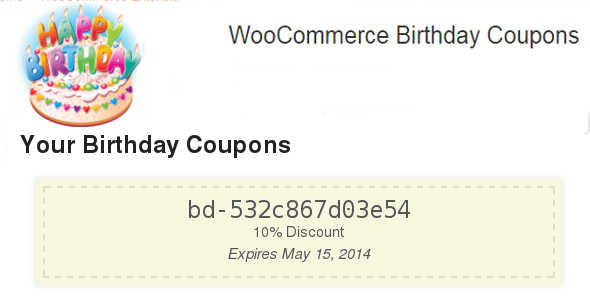 3.1. Woocommerce Birthday Coupons