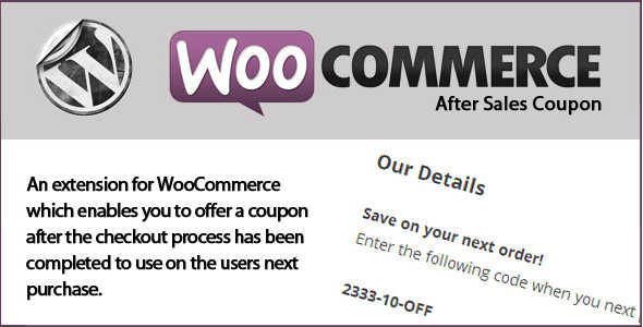 3.11. WooCommerce After Sales Coupon