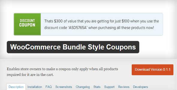 3.12. WooCommerce Bundle Style Coupons