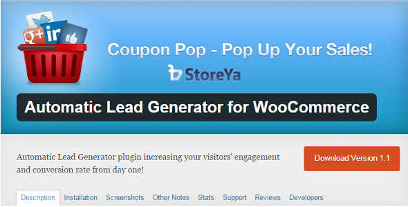 3.15. Coupon Pop - Automatic Lead Generator