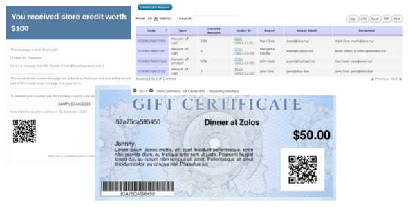 3.2. WooCommerce Gift Certificates
