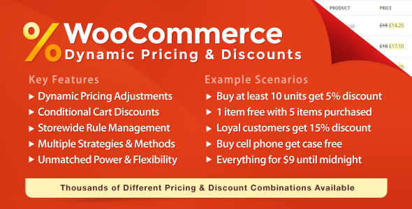 4.8. WooCommerce Dynamic Pricing and Dicounts