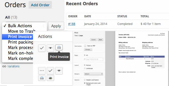 5.1. Print Invoices and Packaging Lists