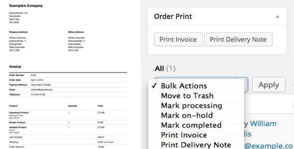 5.4. WooCommerce Print Invoice & Delivery Note