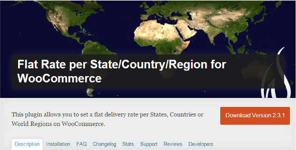 7.1. Flat Rate per State Country Region for WooCommerce