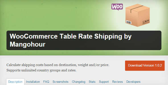 7.12. WooCommerce Table Rate Shipping by Mangohour