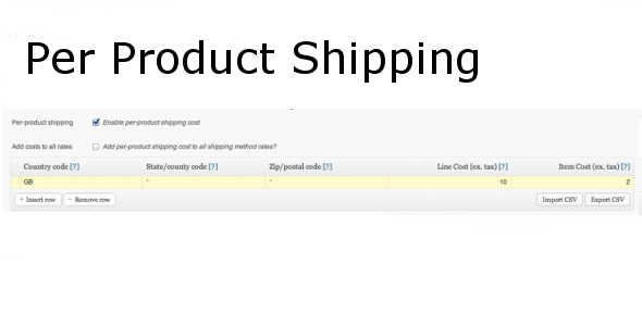 7.7. Per Product Shipping