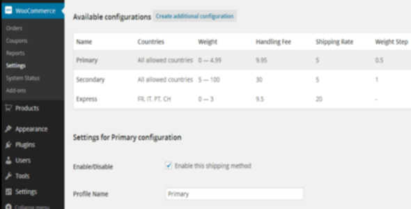 7.9. Weight based shipping for WooCommerce