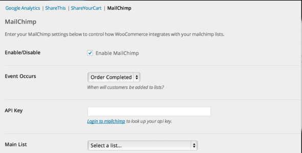 8.4. WooCommerce MailChimp