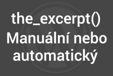 Co znamená excerpt neboli stručný výpis příspěvku