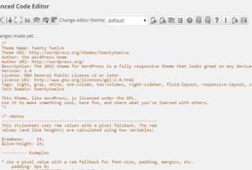 Lepší editor souborů šablon a pluginů ve WordPressu