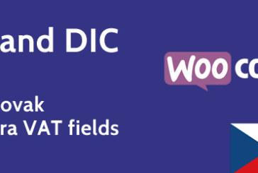Plugin pro přidání IČ a DIČ do formuláře pokladny WooCommerce