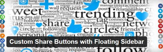 Custom share buttons WordPress plugin