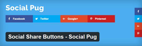 Social Share Buttons – Social Pug plugin