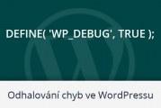 Jak zjistit proč WordPress web nefunguje