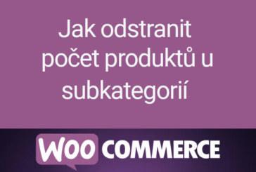 Jak odstranit počet produktů u subkategorií ve WooCommerce