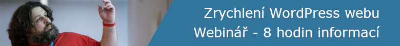 Webinář - zrychlete si WordPressu